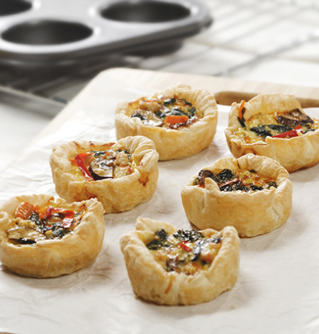 Mini Chicken & Vegetable Quiche