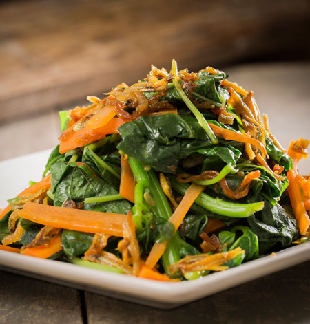 Stir-Fried Spinach with Anchovies