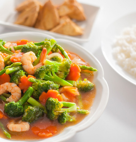 Mixed Vegetables with Sweet and Sour Gravy